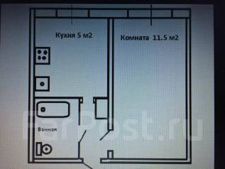 1-комнатная, улица Вяземская 7. Железнодорожный, агентство, 22 кв.м.