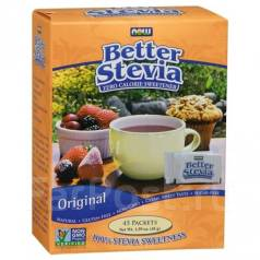 "Заменитель сахара ""Better Stevia"", 1 гр. *45 пак. ""NOW"""
