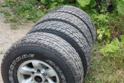 Bridgestone Dueler A/T D694. Грязь AT, 2010 год, износ: 10%, 5 шт