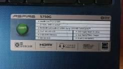 """Acer Aspire 5750G-2313G50Mnbb. 15.6"""", 2,1ГГц, ОЗУ 3072 Мб, диск 500 Гб, WiFi, Bluetooth, аккумулятор на 3 ч."""