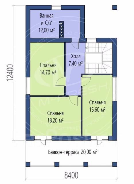 M-fresh Madagascar (Посмотрите сейчас этот проект компактного дома! ). 100-200 кв. м., 1 этаж, 4 комнаты, бетон