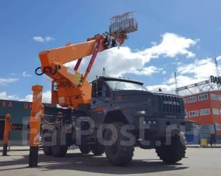 Hansin. Автовышка HS450A на шасси URAL NEXT 6x6, 6 650 куб. см., 45 м.