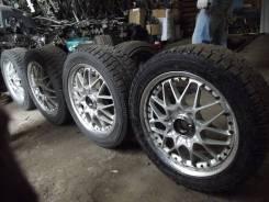 Диски Rays Volk Racing Evolution 3 R17 на жирной зимней резине. x17 4x114.30, 5x114.30