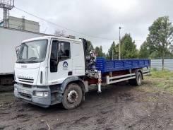 Iveco Eurocargo. Бортовой грузовик с краном-манипулятором, 5 880 куб. см., 10 000 кг.