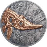 Предзаказ: Монголия 500 тугриков 2017 Ихтиозавр Серебро 999, золото!. Под заказ