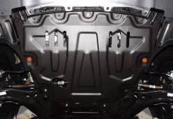 Защита двигателя железная. Hyundai: ix35, Solaris, Terracan, Grand Starex, Grandeur, Libero, Accent, Veracruz, Sonata, Tucson, i30, Getz, ix20, Avante...