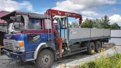 Hino Profia. Бортовой грузовик с манипулятором, 17 000 куб. см., 12 000 кг.