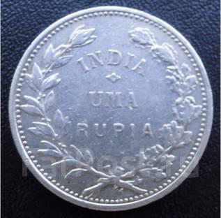 1 рупия.1912г. Индия португальская. Голова Свободы. Серебро. XF.