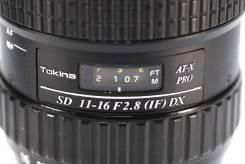 Tokina 11-16 F2.8 aspherical AT-X 116 PRO DX Nikon. Для Nikon, диаметр фильтра 77 мм