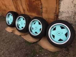 Комплект Borbet A r16 9j 4-100 резина Dunlop sport max 215/45/16. 9.0x16 4x100.00, 4x108.00 ET25 ЦО 67,0мм.