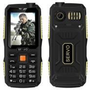 Телефон Servo V3 4sim, защита от пыли и влаги, яркий фонарь, антиударн