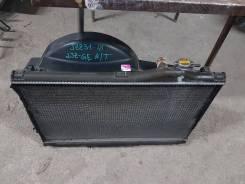 Радиатор охлаждения двигателя. Toyota Soarer, JZZ31 Двигатель 2JZGE