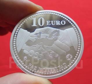 Испания 10 Евро 2005 ПРУФ - Европейский Мир и Свобода (Серебро)