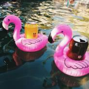 """Надувная подставка для стакана """"Розовый фламинго"""", в наличии. iRoom"""