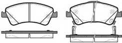 Колодки дисковые п.\ Toyota Avensis 1.6-2.2D 09>