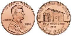 1 цент 2009 США Дом Линкольна