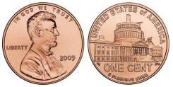 1 цент 2009 США Президентство Линкольна