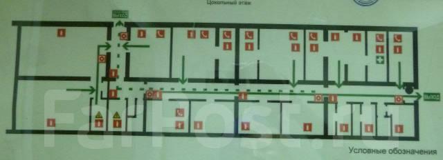 Продаю помещение под готовый офис с ремонтом с отдельным входом. Улица Котельникова 4, р-н Третья рабочая, 473 кв.м. План помещения