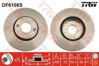 Диск тормозной передний HYUNDAI I40, IX35, SONATA V-VI, TUCSON, KIA RIO III DF6108S trw DF6108S в наличии