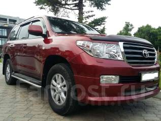Накладка на бампер. Toyota Land Cruiser