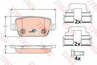 Колодки задние FORD GALAXY 06-, KUGA I, MONDEO IV, S-MAX 06-, VOLVO S80 II GDB1732 trw GDB1732 в наличии