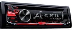 Автомобильный СD-ресивер JVC KD-R482 CD/USB/FM, MP3/WMA/WAV/FLAC, front AUX/USB, 2 RCA/SW, 50w x 4, красная подсветка кнопок.