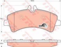 Колодки задние MB SPRINTER 4.6t-5.0t (906), VW CRAFTER 30-50 (2E_-2F_) GDB1699 trw GDB1699 в наличии