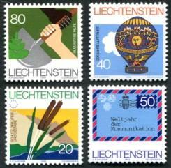 1983 Лихтенштейн. События и даты. 4 марки. Чистые