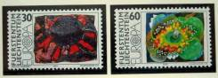1975 Лихтенштейн. Европа-СЕПТ живопись. 2 марки. Чистые