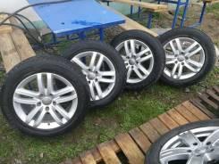 Комплект оригинальных дисков Audi Q7 на резине bridgestone blizzak. x18 5x130.00