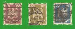 Марки 20, 30 и 50 пфенниг. 1911 г. Германия.
