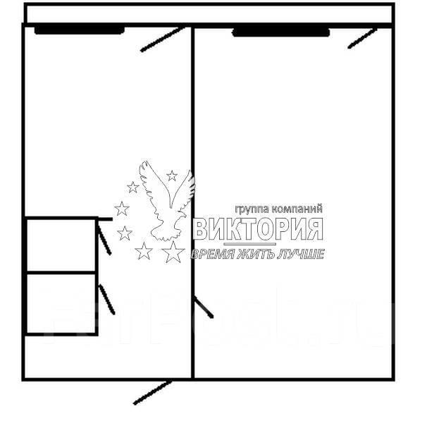 1-комнатная, улица Ульяновская 11. комсомольская, агентство, 37 кв.м. План квартиры