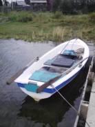 """Продам пластиковую лодку ( Авиазавод) с мотором """"Меркури"""" 5 л/с. Год: 2014 год, длина 3,70м., двигатель подвесной, бензин"""