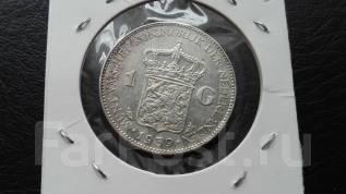 1 гульден 1939 Нидерланды серебро Вильгельмина