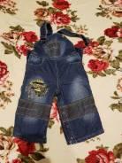 Комбинезоны джинсовые. Рост: 62-68, 68-74, 74-80, 80-86, 86-92, 92-98 см
