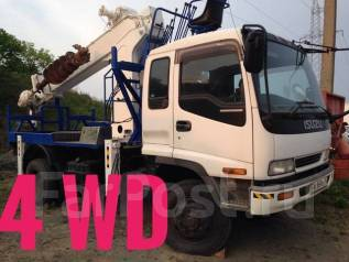 Isuzu Forward. Грузовик с КМУ Aichi D 705 с буром, 6 500 куб. см., 5 000 кг.