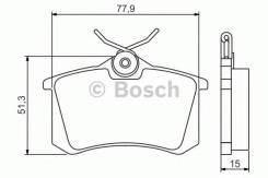 Колодки тормозные дисковые Premium 2 BOSCH 0986495226