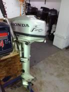 Honda. 5,00л.с., 4-тактный, бензиновый, нога L (508 мм), Год: 2005 год