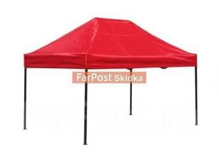 Шатер Anyplace Крепкий каркас, размер: 300х300хh285. Красный цвет.