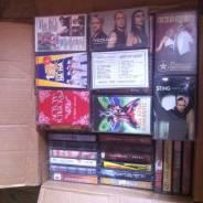 Целая коробка аудио касет