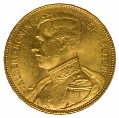 Золотая монета Король Бельгии Алберт I. Под заказ