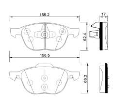 Колодки передние AVANTECH арт.АV113