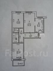 3-комнатная, улица Волочаевская 7. Индустриальный, агентство, 70 кв.м.