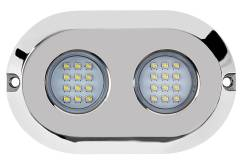 Подводный светильник RGB (многоцветный), LED, 120 Вт, нерж. корпус