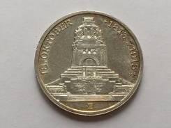 Германия-Саксония 3 марки 1913 100 лет битве при Лейпциге серебро UNC