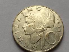 Аукцион ! Австрия серебро 10 шиллингов 1958 год