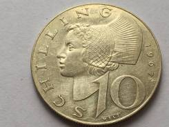 Аукцион ! Австрия серебро 10 шиллингов 1965 год