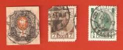 Марки, 1 руб., 14 коп. и 7 коп. 1913 г. Царская Россия.