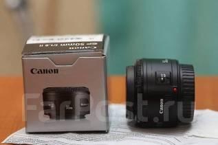 Продам объектив Canon 50mm f/1.8, покупали в Альфа 25. Для Canon, диаметр фильтра 52 мм