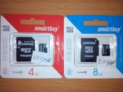 Приму Карты памяти) флэшки microSDHC Объёмом памяти от 2 до 8Gb: